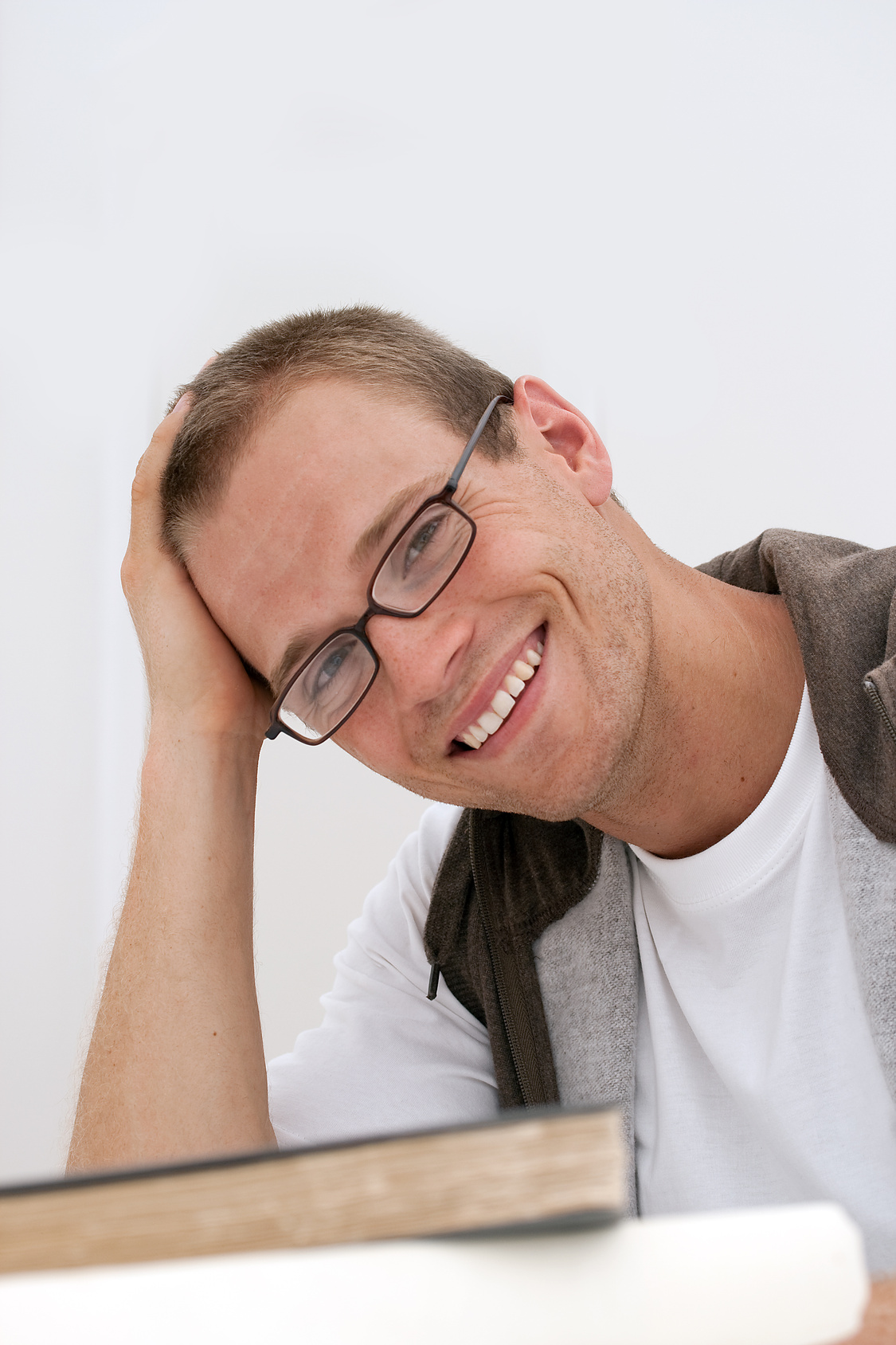 Smiling male student